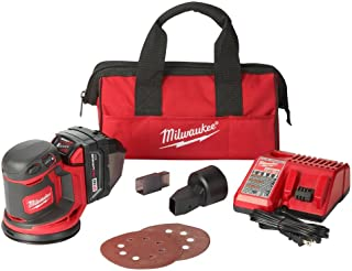 Milwaukee M18 18-Volt Lithium-Ion 5 in. Cordless Random Orbit Sander Kit, 12,000 OPM Output with Variable Speed Control, Includes 3.0Ah Battery, Charger and Tool Bag