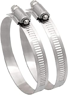 2 x Worm Drive Hose Clamp Clips for 150mm Flexible Ducting 6 Inch Extractor Fans