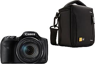 """Canon PowerShot SX540 HS - Cámara digital de 20.3 Mp (pantalla de 3"""" zoom óptico de 50x NFC WiFi) negro + Case Logic TBC-404 - Funda para cámara compacta negro"""