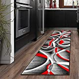 MENGH Alfombra de Pasillo Cocina 60x120cm, Resistente a Las Manchas, Aislante Diseño, para Pasillo Cocina Sala de Estar Dormitorio