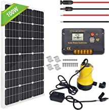 ECO-WORTHY 100W Solar Water Pump Kit - 100W Solar Panel + 12V Water Pump + 20A LCD Display Controller + Pair of Cable + Mounting Brackets for Remote Watering, Garden, Farm Irrigation, Tank Filling