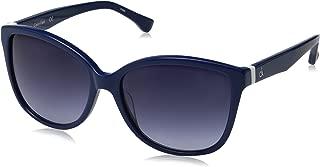 Calvin Klein Women's Calvin Klein Women's Ck4258s Cateye Sunglasses CK4258S-438 Cateye Sunglasses, BLUE, 56 mm