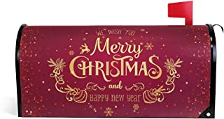 WOOR Christmas and New Year Magnetic Mailbox Cover Oversized-20.8