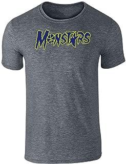 Monstars Basketball Halloween Costume Graphic Tee T-Shirt for Men