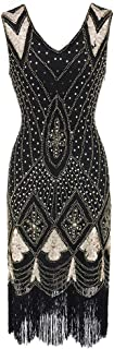 1920s Dress Great Gatsby Dress Vintage Flapper Costume Astrid Short Dress Sequin with Tassel Halloween Fancy Dress