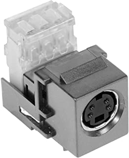 Hubbell Wiring Systems SFSV110GY iSTATION Metal Raceway S-Video 110 Punch-Down AV Modular Connector, Gray