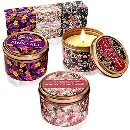 Briojoy - Juego de velas perfumadas para mujeres, mamá, esposa, hermanas, novias, compañeros de trabajo
