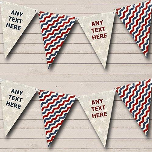 Amerikaanse vlag sterren kleuren gepersonaliseerde Bunting partij Banner decoratie slinger Large