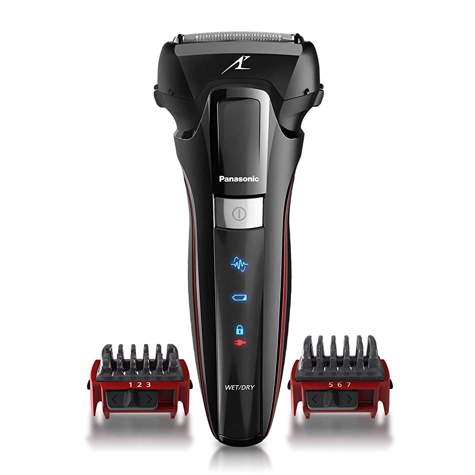 Panasonic Hybrid Wet Dry Shaver, Trimmer & Detailer with Two Adjustable Trim Attachments, Pop-up Precision Detail Trimmer & Shave Sensor Technology – Cordless Razor for Men - ES-LL41-K (Black)