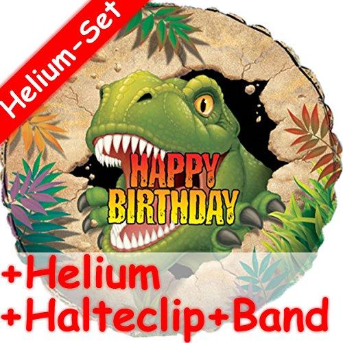 Folieballonset * DINO & T-REX + Helium vulling + houder clip + band * // opgeblazen met ballongas // kinderverjaardag decoratie folie ballon dinosaurus Saurier