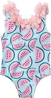 xkwyshop Toddler Baby Girl Swimsuit One Piece Swimwears, Sleeveless/One Shoulder Toddler Girl Bathing Suit Beachwear