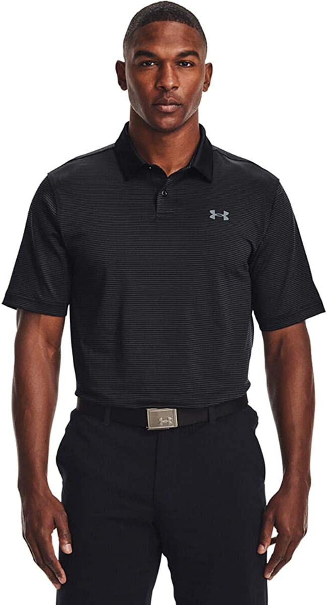 Under Armour Men's Performance Golf Brand new Polo Ranking TOP18 Stripe