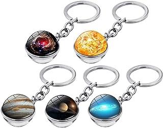 Toyvian 5 Stücke Schlüsselanhänger Planeten Design Schlüsselanhänger Kreative Zeit Edelstein Keychain Schlüsselanhänger Tasche Hängen Anhänger