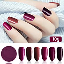 6 Box/Set Fine Dipping Powder Bright Yellow Purple Blue Rose Pink Colors No Need Lamp Cure Dip Powder Nails,Like Gel Polish Effect, Even & Smooth Finishing (50-55-81-89-91-78-10g/box)