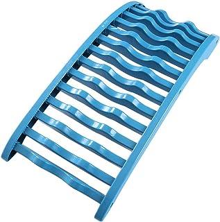 Camilla De Soporte Lumbar, Dispositivo De Tracción Espinal para Aliviar El Dolor Alivio del Dolor De Espalda Masaje Columna Vertebral De Descompresión Muscular Blue