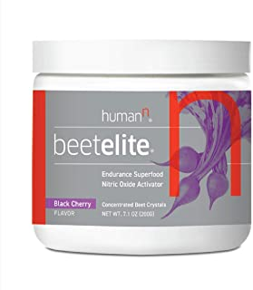 HumanN BeetElite Superfood Concentrated Beet Powder Nitric Oxide Boosting Athletic Endurance Supplement (Black Cherry Flav...