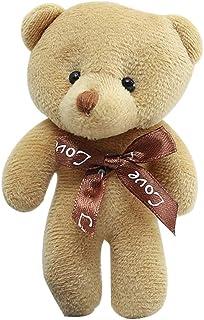 Ladruph キーホルダー ぬいぐるみ くま テディベア 可愛い熊 動物 くまぬいぐるみ 熊縫い包み クマ 抱き枕 お祝い ふわふわ お人形 女の子 男の子 子供 女性 プレゼント (ベージュ)