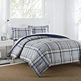 IZOD 028828368997 Comforter Set, Full/Queen, Grey/Navy