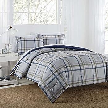 IZOD Connor Plaid Comforter Set Twin 2 Comforter & Sham