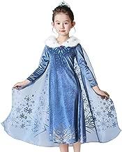 Mukola Girls Princess Elsa Costume Snow Queen Frozen Dress Up Halloween Party