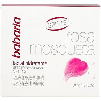 Babaria - Rosa Mosqueta SPF15 - Crema facial hidratante con efecto ...