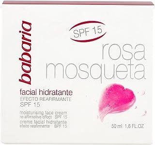 Babaria Rosa Mosqueta Crema Facial Hidratante con SPF 15 - 50 ml