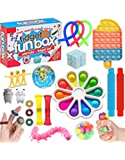 HICITI fidget toys set ,Relieves Stress Anxiety Fidget Toy for Children Adults, Pop it toys set for Birthday Party Favors,Classroom Rewards Prizes, Carnival,Goodie Bag Fillers