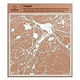 Stuttgart Scherenschnitt Karte, Weiß 30x30 cm Papierkunst