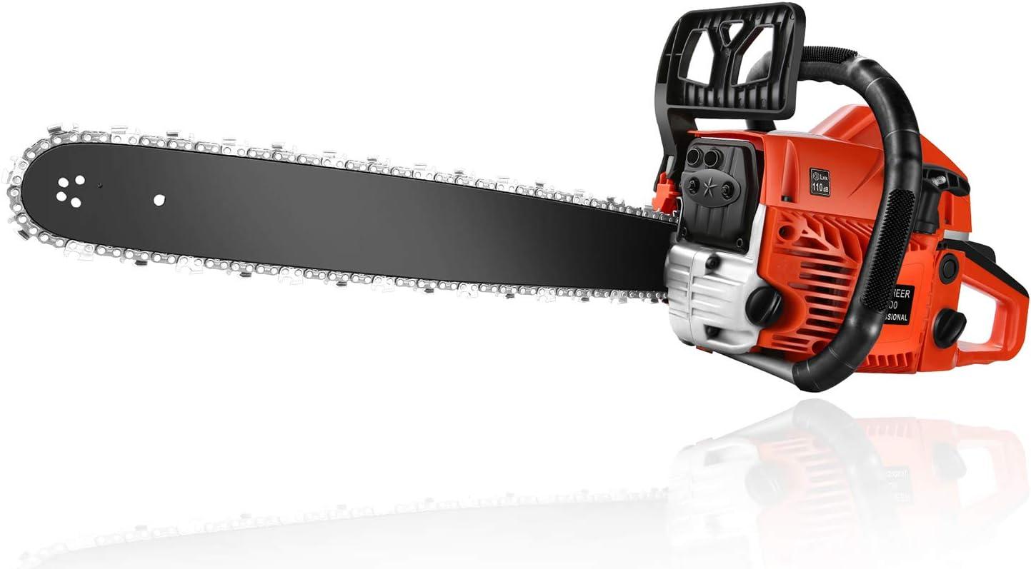 Homdox 20 Inch Gas Powered Saw Woodcutting 毎日続々入荷 オンラインショップ 62CC Chainsaw Chain