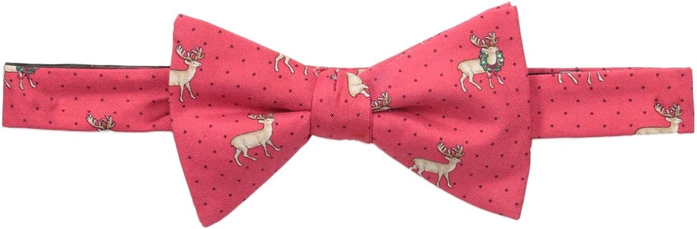 Tommy Hilfiger Men's Reindeer Print Pre-Tied Bow Tie