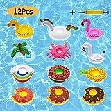 Flotadores posavasos baratos hinchables para piscina 12 piezas