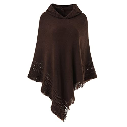 03a4ca78a60 Ferand Ladies  Hooded Cape with Fringed Hem