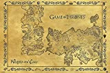 Game of Thrones Poster - Westeros & Essos Karte Antik