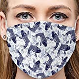 TingM Outdoor Washable Reusable Breathable Seamless Funny Print Cycling Mouth Bandana Stripe Anti-Dust Cloth for Women and Men