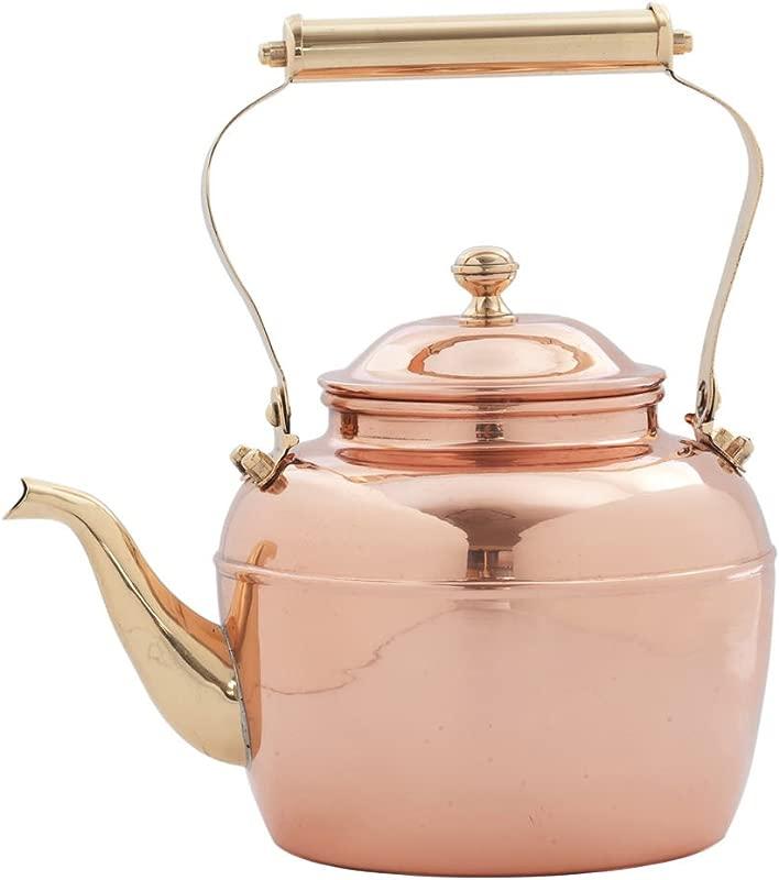 Old Dutch 887 Teakettle 2 Qt Copper Brass
