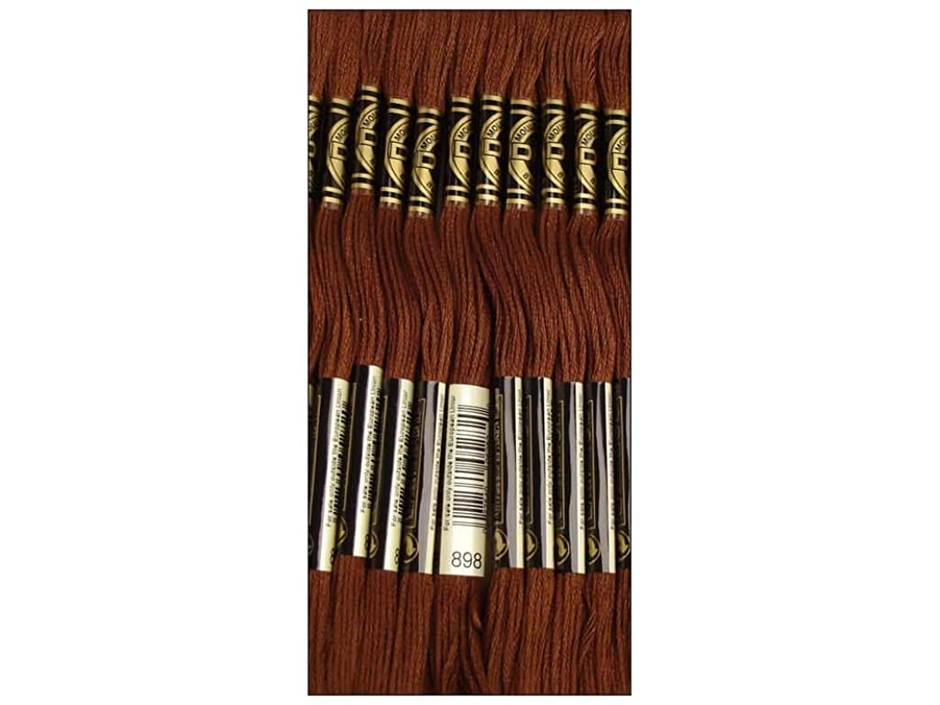 Bulk Buy: DMC Thread Six Strand Embroidery Cotton 8.7 Yards Very Dark Coffee Brown 117-898 (12-Pack)
