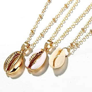 Bohemia Shell Necklaces Chokers 3 Layers Gold Pendant Jewelry for Sexy Lady Summer Sea Beach