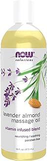 NOW Solutions Lavender Almond Massage Oil, 16 fl oz.