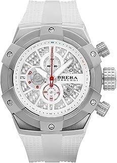 BRERA OROLOGI - Reloj de Cuarzo Analógico para Hombre con Correa de Goma Mod. Supersportivo Brssc4921a