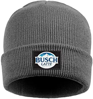 Man Women's Busch Latte Beer Logo Beanie Hats Slouchy Knit Caps Suitable for Winter Outdoor Sports
