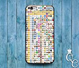 *BoutiqueHouse* iPhone 4 4s 5 5s 5c SE 6 6s plus + iPod Touch 4th 5th 6th Gen Custom Emoji Collage Case Cute Funny Character Cover White Grid Weird Fun(Samsung Galaxy S3)