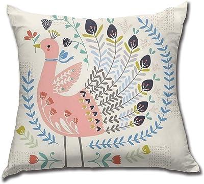 Amazon.com: My Daily Cute Rabbit Bunny Bird Flower Square ...