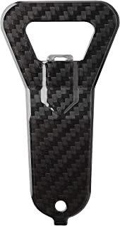 SAFEDOME Genuine Carbon Fiber Bottle Opener, Travel Accessories for Men, Bar Accessories For Cocktail Set or Stylish Gifts for Men - Black - 1.9 x 3.9 inches