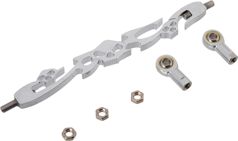 Krator MT288-004 Chrome Billet Skulls Compati New product type Shift Max 46% OFF Type Linkage