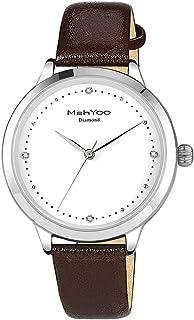 Women's Diamond Wrist Watches for Women,Silver Brown...