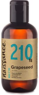Sponsored Ad - Naissance Grapeseed Oil 3.4 fl oz Pure & Natural, Food Grade, Vegan, Hexane Free, Non GMO - Ideal for Aroma...