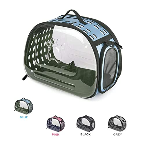 f0a33a02f4 Urbancart Foldable Portable Transparent Pet Carrier Backpack with  Breathable Holes (Blue, Big, 43Lx28Bx33H
