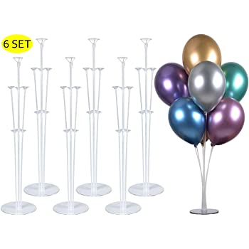 """2 Set 28/"""" Height Table Balloon Stand Kit For Birthday Party Decorations /& Weddin"""