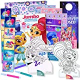 HUB Studios Shimmer & Shine Coloring Book with Stickers & Take-N-Play Set - Shimmer and Shine Stickers, Play Pack, Door Hanger, and More!