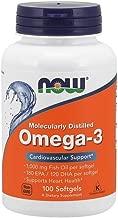 كبسولات اوميغا 3 من ناو للجنسين - الحجم 100 كبسولة